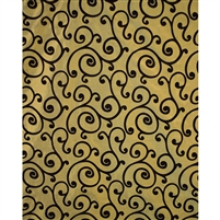 Gold & Black Swirl Fabric Backdrop