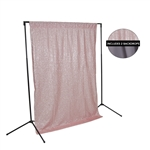 Spring Pink Sequin & Storm Fabric Backdrop Kit