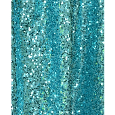 Teal Sequin Fabric Backdrop