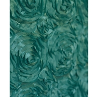Teal Rose Textured Fabric Backdrop