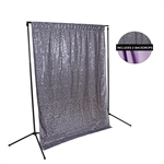 Charcoal Sequin & Lilac Fabric Backdrop Kit