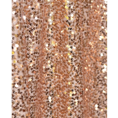 Rose Gold Sequin Fabric Backdrop Backdrop Express