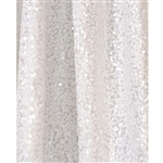 White Sequin Fabric Backdrop