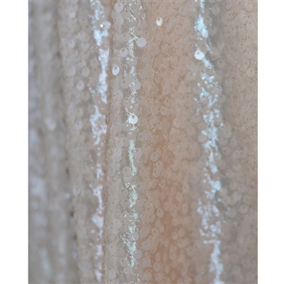 Pale Peach Sequin Backdrop