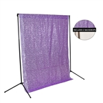 Lilac Sequin & Bone Fabric Backdrop Kit