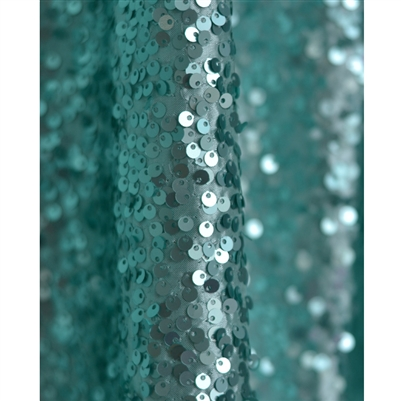 Aqua Sequin Fabric Backdrop