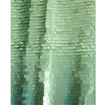 Aqua Super Sequin Fabric Backdrop