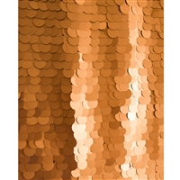 Copper Super Sequin Fabric Backdrop