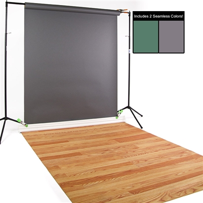 Evergreen, Thunder Gray & Red Oak Seamless / Floordrop Kit
