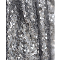 Slate Gray Sequin Fabric Backdrop