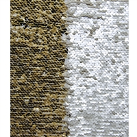 Gold and White Mermaid Sequin Fabric Backdrop