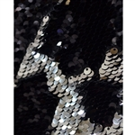 Black and Silver Mermaid Sequin Fabric Backdrop