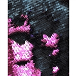 Magenta and Navy Mermaid Sequin Fabric Backdrop