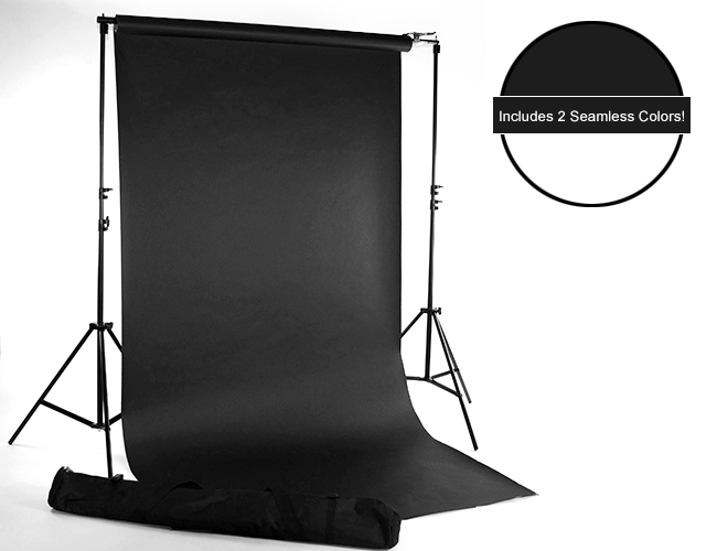 White & Black Seamless Paper Kit  Backdrop Express