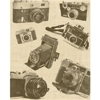 Vintage Camera Printed Backdrop