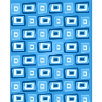 Blue Retro Squares Printed Backdrop