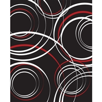 Red & White Circles Printed Backdrop