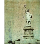 Grunge Statue of Liberty Printed Backdrop
