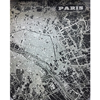 Paris Map Printed Backdrop