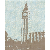 Vintage Big Ben Printed Backdrop