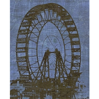 Vintage Ferris Wheel Printed Backdrop