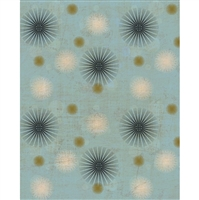 Blue Dandelion Printed Backdrop - Vinyl - 5ft (w) x 6ft (h)