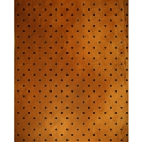 Burnt Orange Polka Dot Printed Backdrop