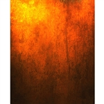 Orange Grunge Printed Backdrop