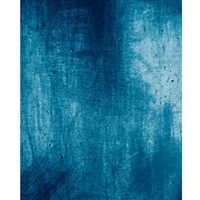 Grunge Cobalt Mottled Printed Backdrop
