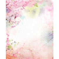 Spring Watercolor Printed Backdrop
