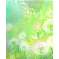 Dandelion Watercolor Printed Backdrop