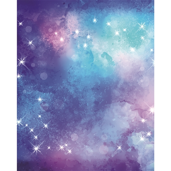 Starry Night Watercolor Printed Backdrop Backdrop Express