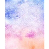 Galaxy Watercolor Printed Backdrop