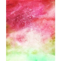 Watercolor Nebula Printed Backdrop