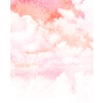 Watercolor Clouds Printed Backdrop