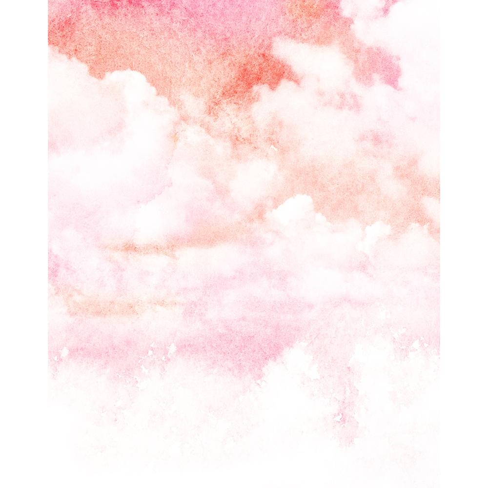 Watercolor Clouds Printed Backdrop Backdrop Express