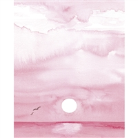 Watercolor Sunset Printed Backdrop
