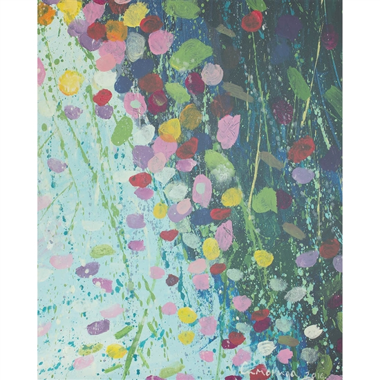 Abstract Flowers Printed Backdrop