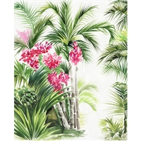 Bamboo Palm Trees Printed Backdrop