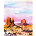 Monument Valley Printed Backdrop