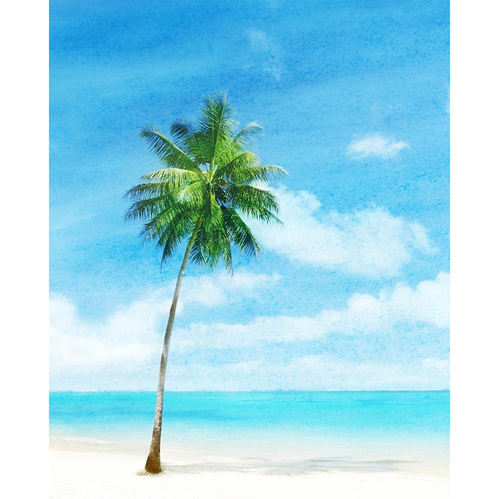 Watercolor Beach Printed Backdrop