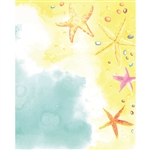 Watercolor Seashore Printed Backdrop