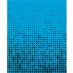 Blue & Black Halftone Printed Backdrop