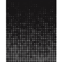 Black & Gray Halftone Printed Backdrop