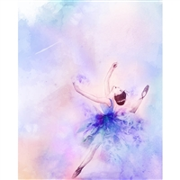 Pastel Ballerina Printed Backdrop