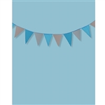 Deep Blue Bunting Printed Backdrop