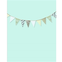 Mint Bunting Printed Backdrop