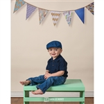 Chevron Bunting on Cream Printed Backdrop
