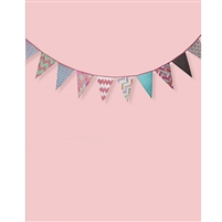 Pink Bunting Printed Backdrop