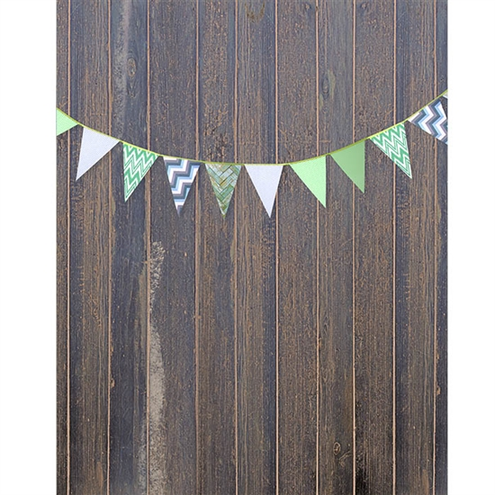 Blue Pine Bunting Printed Backdrop